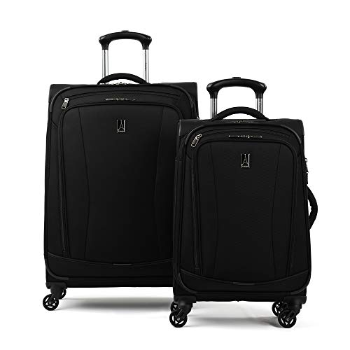 Travelpro TourGo Softside Lightweight 2-Piece Luggage Set, Black