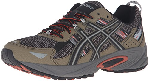 ASICS Men's Gel-Venture 5 Trail Runner, Dusky Green/Black/Cinnamon, 10.5 M US
