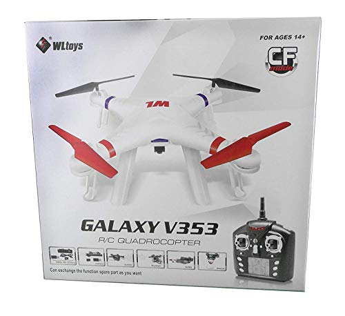 efaso Quadcopter WLtoys V353 Galaxy V1 Headless Mode- 2,4 GHz, 4-Kanal Quadrocopter aus robustem EPP, mit LED Beleuchtung und Kameravorbereitung