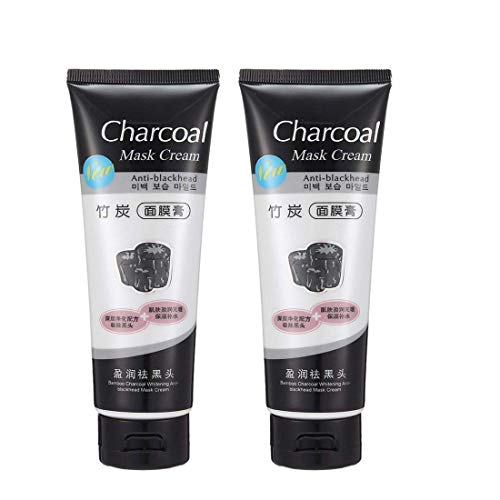 BELLA HARARO Charcoal Mask Peel Off Face Mask Cream Blackhead Remover for All Skin Types-(men and women)~(PACK OF 2)
