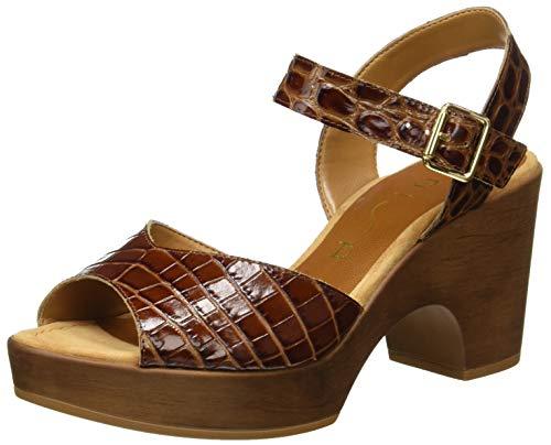 Unisa Women's platform Sandals , Brown Saddle Saddle , 7 US