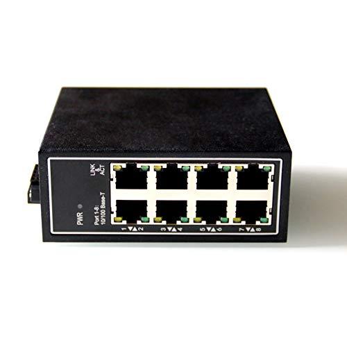 WIWAV WDH-8ET-DC 10/100Mbps Nicht verwaltete 8-Port-Industrial-Ethernet-Switches mit DIN-Schiene/Wandhalterung (lüfterlos, -30℃~ 75 ℃)