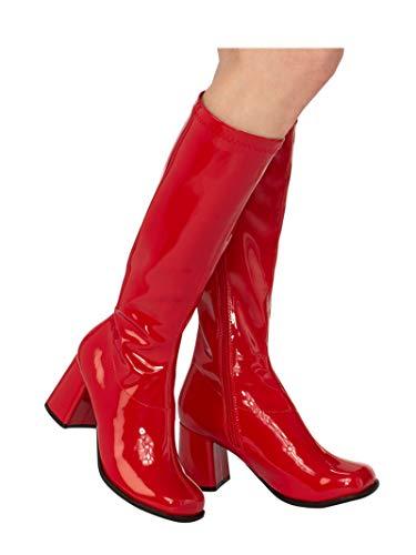 Rubie's Women's Costume GoGo Boots, Red, 10
