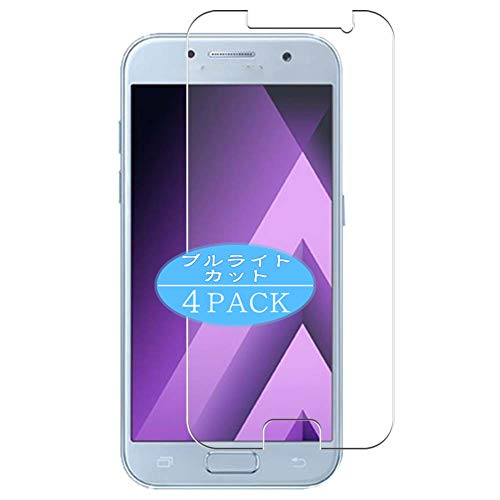 VacFun 4 Piezas Filtro Luz Azul Protector de Pantalla Compatible con Samsung Galaxy A7 2017 A720, Screen Protector Película Protectora (Not Cristal Templado) Anti Blue Light Filter New Version