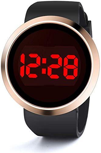 Scpink LED Elektronische Uhr neue Türkische Touchscreen Mode Paar Business Uhren Stabile Herrenuhr Marea Uhr für Damen und Herren 25cm Schwarz