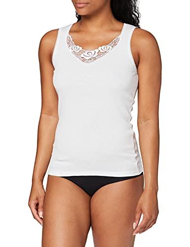 Damart 12322 Haut thermique Femme Blanc (Blanc) 42 (Taille fabricant: M)