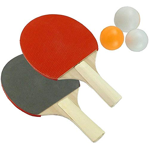Best Buy! FUHUY 2PCS Sport Table Tennis Bats Pingpong Racket Set Table Tennis Racket in Long Short H...