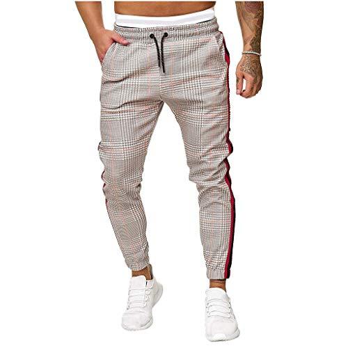 Loiy Herren Jogginghose Sporthose Baumwollmischung Fitness Slim Fit Hose Freizeithose Joggers Streetwear | Baumwollhose Chinohose Freizeithose Stoffhose