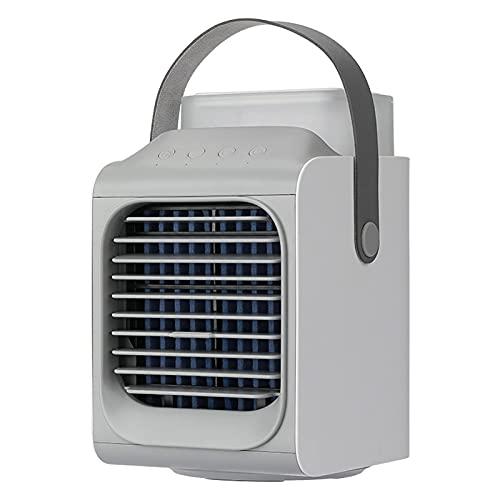 Apartamento de aire acondicionado, sin ventilador de manguera de escape / en enfriador de aire portátil, refrigerador de evaporación del espacio personal con tanque de agua de 350 ml, refrigeración de