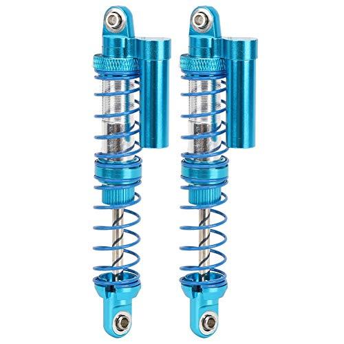 Dilwe RC Öldämpfer, RC Metall Öldruckpuffer Doppelfeder Einstellbarer Stoßdämpfer Universal Kompatibel mit 1/10 RC Crawler Car(90mm/3.5in)