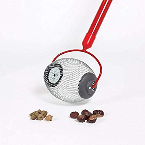 """Garden Weasel 95334 Small Nut Gatherer Pickup Acorns, Buckeyes, and More From 3/8"""" To ¾"""" In Size, Durable Steel Construction, Weather and Rust Resistant,"""