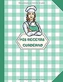Mis recetas cuaderno: libro de recetas para llenar| Libro de cocina personalizado para anotar 100 Recetas | Dimensiones: 21,59 cm x 27,94 cm | Idea de regalo