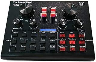 V8X Pro بطاقة صوت حية 15 ميكروفون مؤثرات صوتية معدات تسجيل الصوت (أزرق)