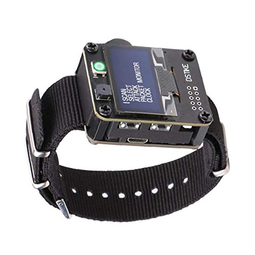 EElabper WiFi-Test Esp8266 Programmierbare Development Board Deauther Werkzeug mit 500mAh Batterie OLED Dispaly-Armband-Kasten