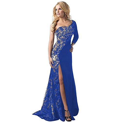 Yesmile Vestido de Mujer Falda Blanco Ropa Vestido Elegante de Noche para Boda Fista Vestido Largo de Verano Maxi Boho de Las Mujeres con el Bolsillo (Azul, S)