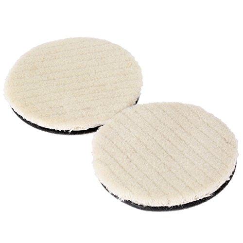 2pcs Lame de polissage de la laine, disque de polissage pour le nettoyage de voiture polissage Cylindre de feutre Buff Outils Dremel