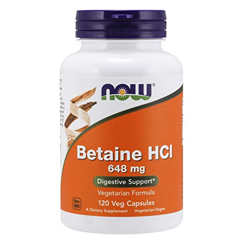 NOW Foods Betain HCl, 648mg - 120 VKapseln