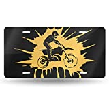 C59KHK76 Motocross Dirt Bike Rider License Plate-Personalized Custom Car Front Automotive License Tag-6 Inch X 12 Inch