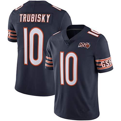 ZSZKFZ Rugby-Pullover zum 100. Geburtstag Chicago Bears, Uniformen Trubisky # 10, schwarz, XXL