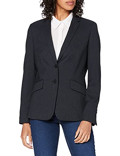 ESPRIT Collection Damen 999Eo1G804 Anzugjacke, Blau (Navy 5 404), Herstellergröße: 42