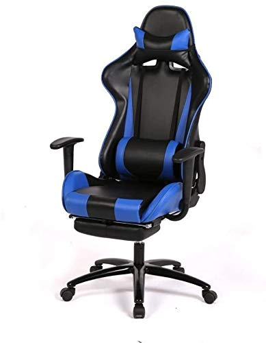 BICCQ Laptop Computers Video Game Chair Computer Gaming Chairs Racing Kids Adult Best Desktop Office Blue Furniture High-Back Ergonomic Design Office Gear