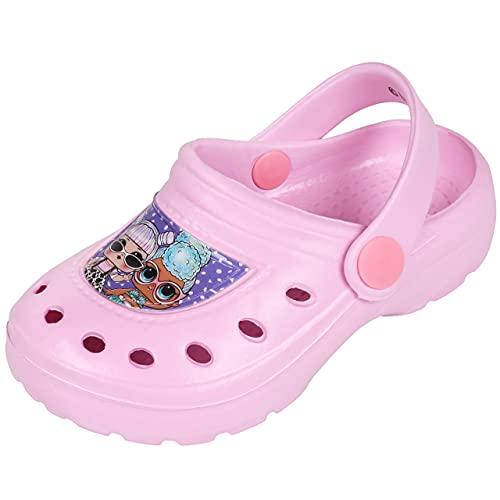 Chancletas Rosas/Zapatos de jardín para niños LOL Surprise 28/29 EU