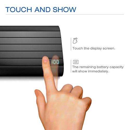 Externer Akku, Vinsic® 20000mAh 5V 2.4A Dual USB Power Bank für iPhone,Samsung Galaxy und Alle Smartphones QI Unterstützt Schnelllade Mobiltelefone-Schwarz