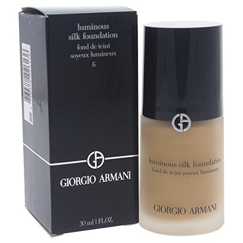 GIORGIO ARMANI #6 Golden Beige Foundation Ounce, Luminous Silk, 1 Fl Oz