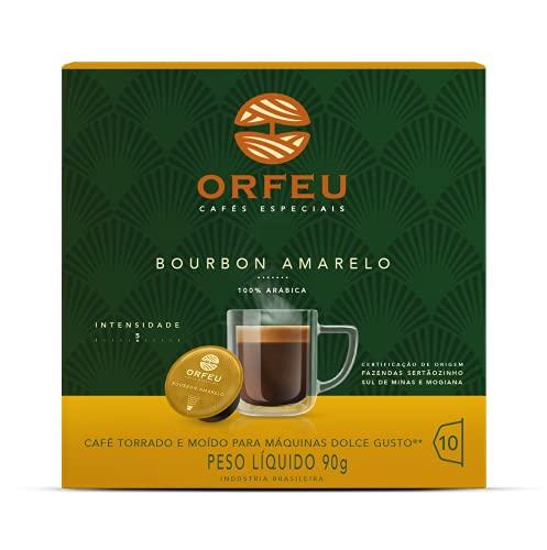 Café ORFEU Cápsula 10 Bourbon Amarelo Compatível Dolce Gusto