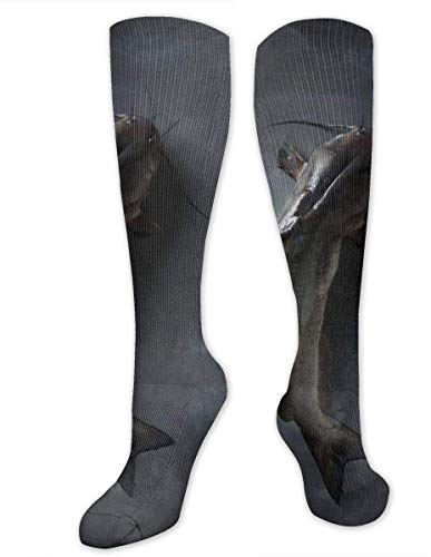 Elsaone Socken Catfish Graduated Fun Dress, bunt, lustig, Crew, 50 cm