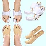 Bunion Corrector And Bunion Relief Kit for Women and Men - 1 Pair of Bunion Pad socks + 1 Pair of Bunion Splints - Socks & Big Toe Straightener Splints for Relieve Hallux Valgus Day Night
