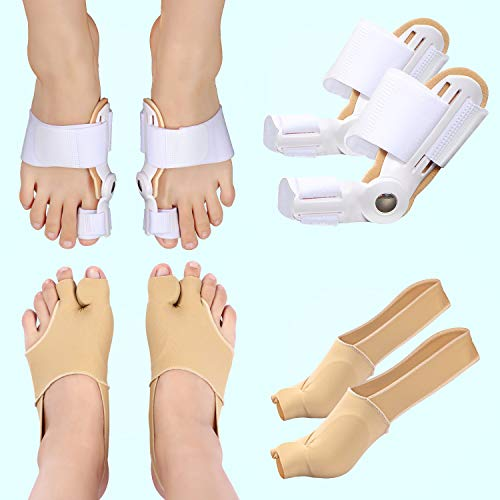 Bunion Splint Bunion Corrector for Women and Men- Big Toe Straightener(1 Pair) -Bunion Corrector (2 Pieces) - Bunion Relief Kits for Relieve Hallux Valgus Day Night Support