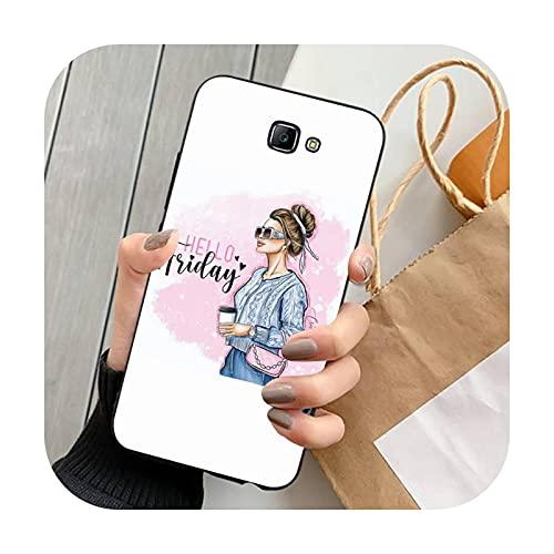 FightLY Moda hermosa chica teléfono caso para Samsung J 4 5 6 7 8 prime plus 2018 2017 2016 J7 core-a10-para J52016