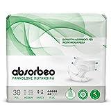 Absorbeo - Pannolone Mutandina Plus – Dispositivi Assorbenti per Incontinenza Media, Unisex, Taglia M (30 pezzi x conf.)