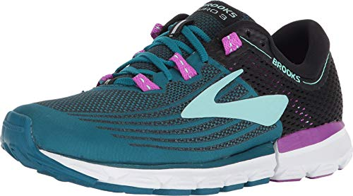 Brooks Neuro 3, Zapatillas de Running Mujer, Multicolor (Lagoon/Black/Purple 329), 36 EU