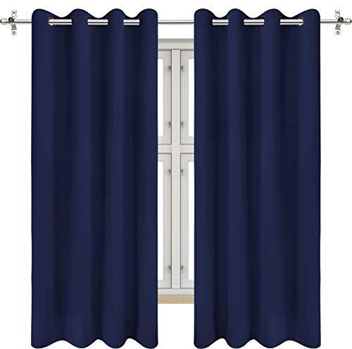 Utopia Bedding 2 Panels Grommet Blackout Curtains