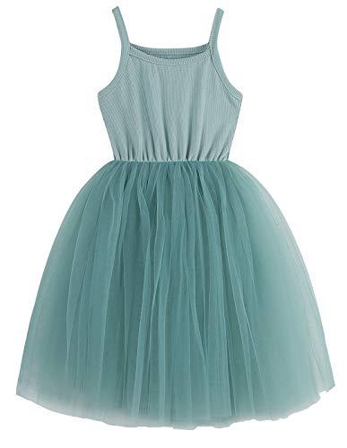 GSVIBK Baby Girls Tutu Dress Toddler Tulle Tutu Dress Infant Tulle Dresses Princess Party Dress 580 Sage Green 3T