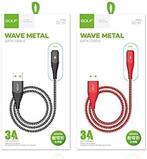 كبل مزامنة بيانات USB صغير مجدول 24AWG 1M كابل شحن USB للهاتف المحمول (أحمر)