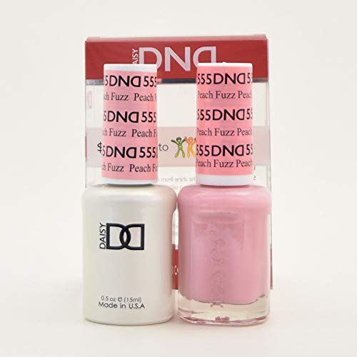DND Daisy Duo Soak off Gel and Matching Nail Polish - 2016 Collection + Buy 2 colors get 1 FREE airbrush Stencil (555 - Peach Fuzz) by Daisy DNA