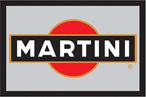 Martini Label Logo Nostalgie Barspiegel Spiegel Bar Mirror 22 x 32 cm