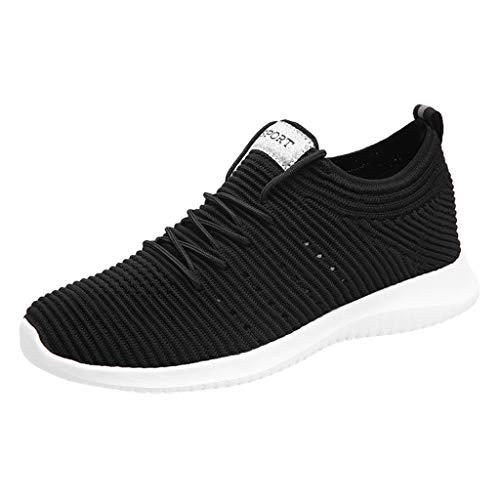 BURFLY Sommer Herren Schuhe, Männer Mode Mesh Atmungsaktiv Leichte Sportschuhe Weiche Slip Strap Sneakers Freizeitschuhe Laufschuhe