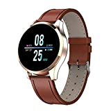 El Nuevo Reloj Inteligente Q9 Diámetro Touch Touch Diameter Smart Watch Es Adecuado para Damas Y Niñas, Compatible con Android Y iOS,F
