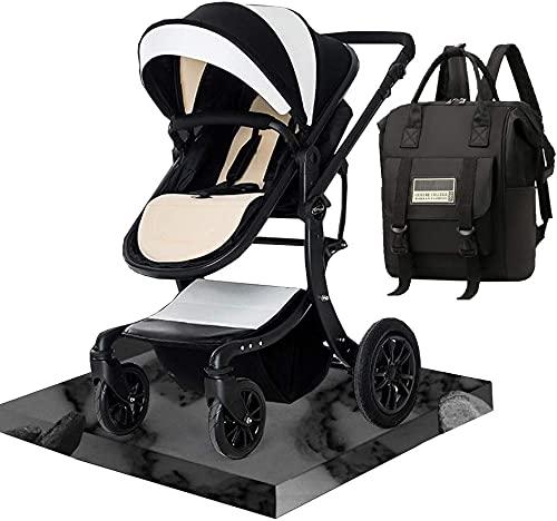 Chilequano Cochecito para niños pequeños, Sistema de Viaje Cochecito de bebé con Mochila de Bolsa de pañales, Silla de aleación de Aluminio Plegable con Respaldo Ajustable, suspensión 3D Ruedas de PU