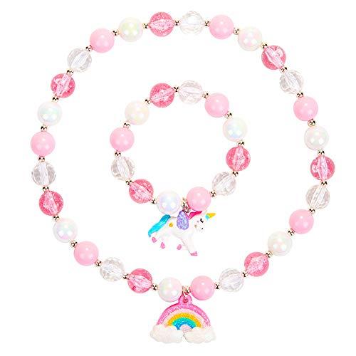Girls Rainbow Neckace Unicorn Bracelet Set,Unicorn Jewellery,Great Costume...