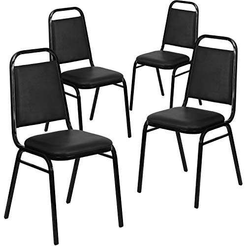 Flash Furniture 4 Pk. HERCULES Series Trapezoidal Back Stacking Banquet Chair