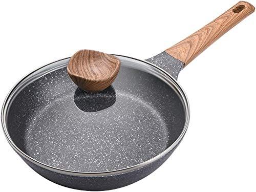 Sartenes ollas de cocción Antiadherente Olla sartén Olla de Piedra recubierta con Gas Grifffür Resistente al Calor es una casa Olla de Cocina de inducción 2020,24cm