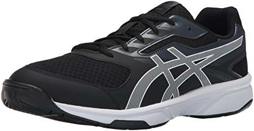 ASICS Mens Upcourt 2 Volleyball Shoe, Black/White/Phantom, 11.5 Medium US