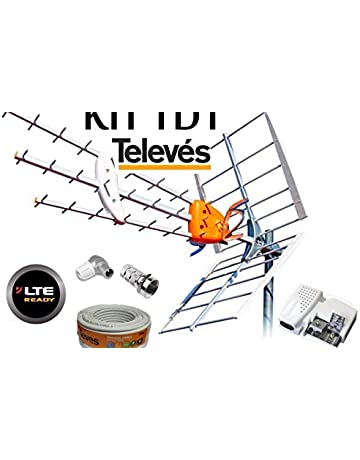 Kit Antena TELEVES HD 149902 +20MT Cable+Fuente ...