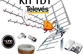 KIT ANTENA TELEVES HD 149902 +20MT CABLE+FUENTE TELEVES 5795 +CONECTORES DE ANTENA TIPO F Y CEI