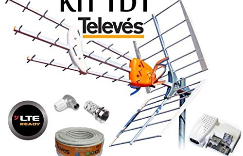 Kit Antena TELEVES HD 149902 +20MT Cable+Fuente TELEVES 5795 +Conectores DE Antena...